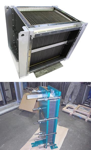 プレート式熱交換器(2種類)